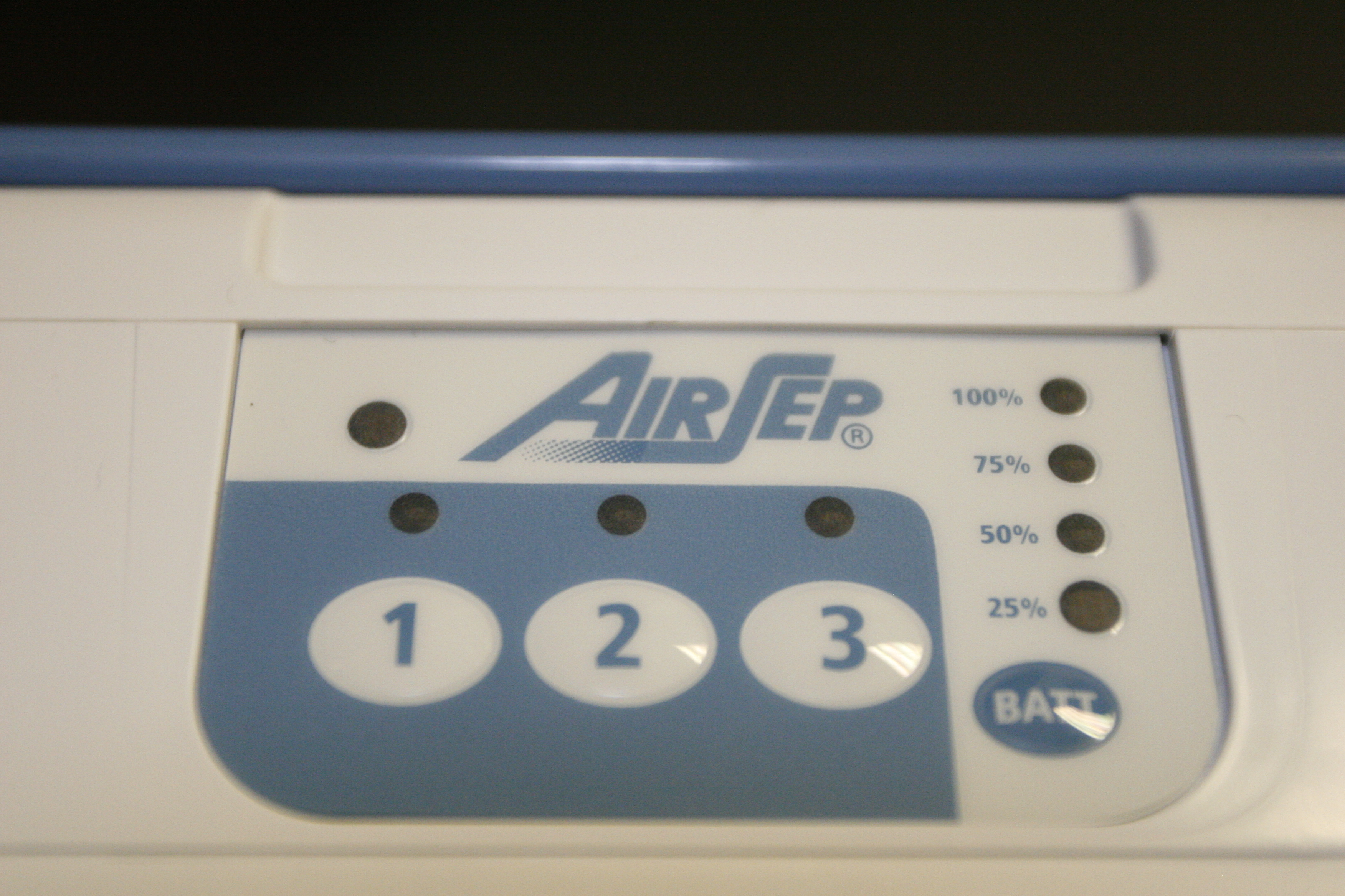 AirSep FreeStyle 3 Control Panel