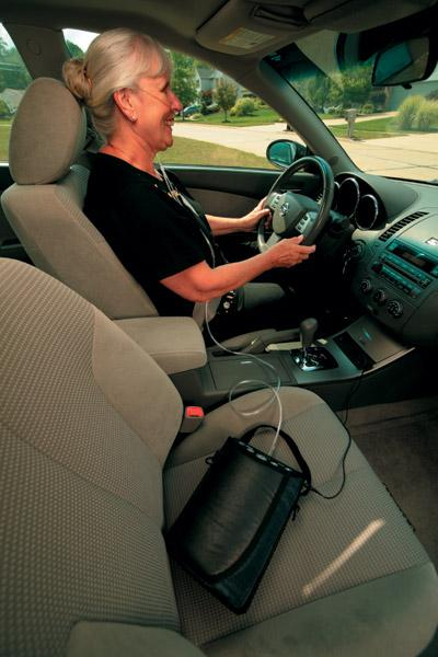 Charge the Invacare XPO2 in the Car or at Home